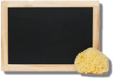Bildung Tafel leer Schwamm