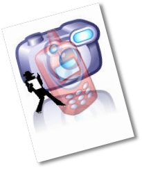 Kamera, Handy und Spion